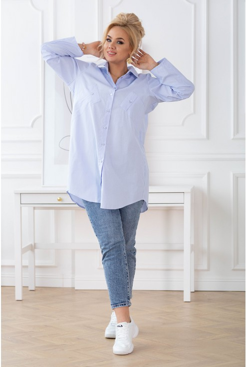 długa koszula za pupę plus size