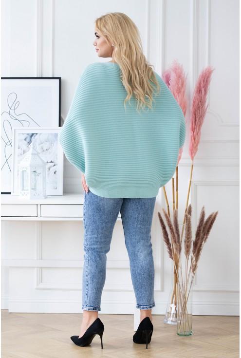 tył morskiego sweterka plus size xxl