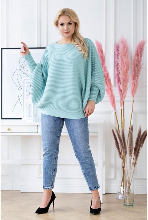 morski sweterek plus size