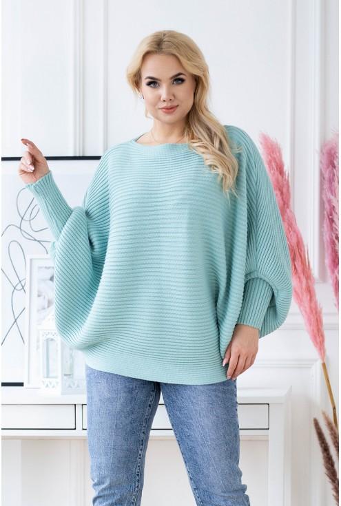 morski sweterek plus size xxl