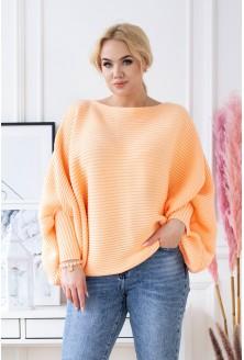 pomarańczowy sweter kimono duże rozmiary