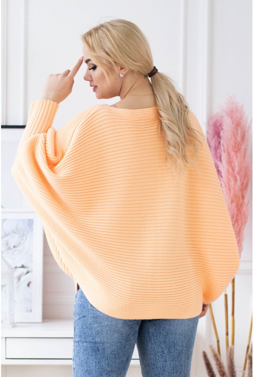 sweterek kimono pomarańczowy