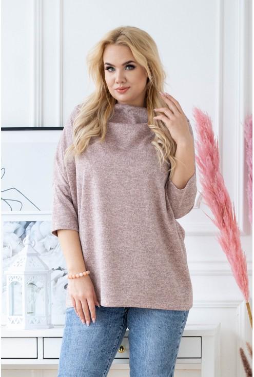 Pudrowy sweterek Clarissa