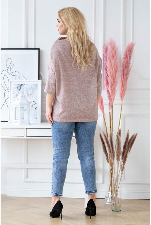 pudrowy sweter XXL Clarissa