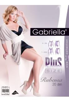 Beżowe półmatowe rajstopy Plus Size 20 den - RUBENSA