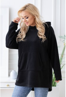 czarna polarowa bluza plus size xxl