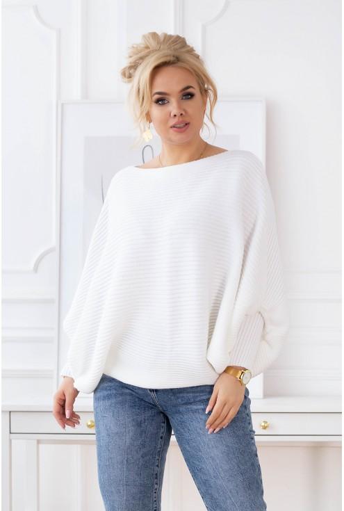 biały sweter XXL Peyton