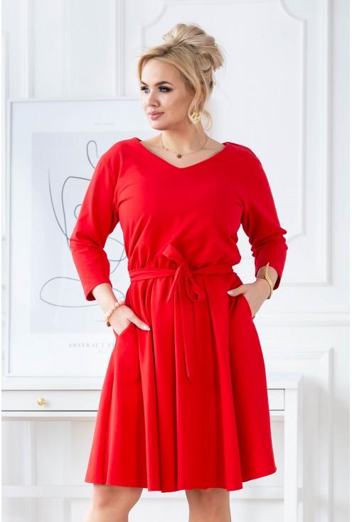 czerwona sukienka Cati XXL