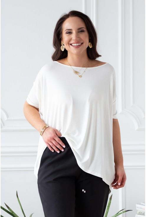 biało kremowa bluzka dagmara xxl