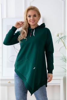 butelkowa bluza plus size z kapturem XL-ka