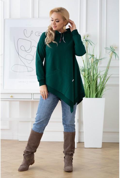 modna bluza kangurek z kapturem - do kupienia w dużych rozmiarach