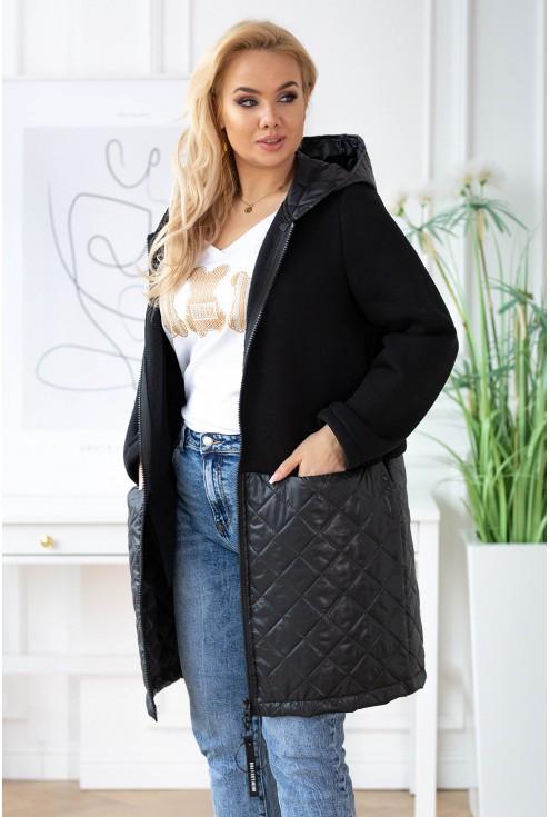 czarna kurtka z kapturem - duże rozmiary XLKA