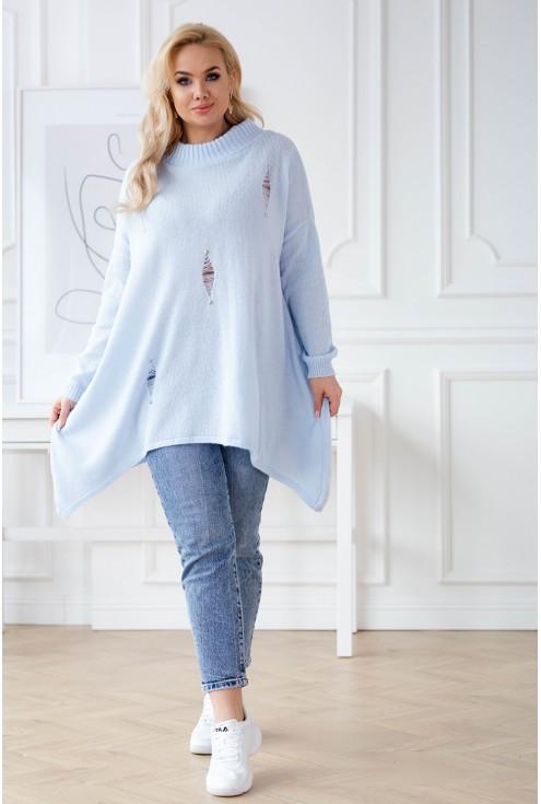 jasnoniebieski sweterek xxl