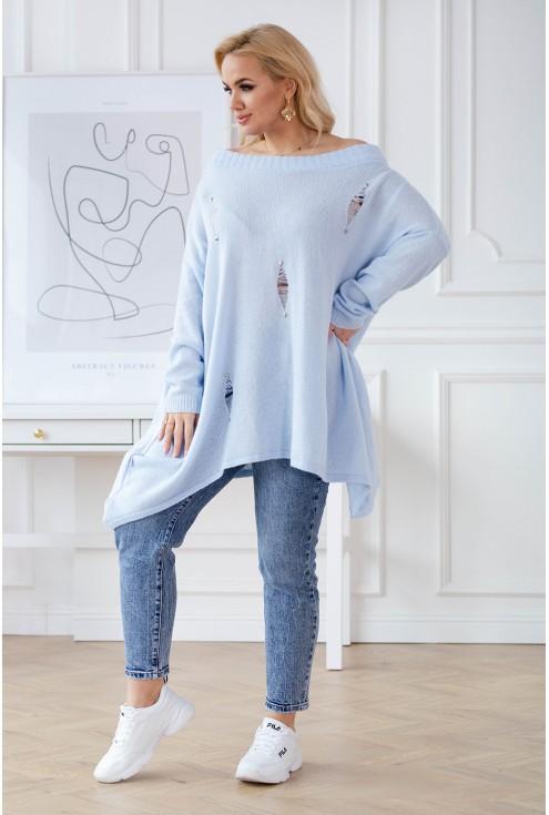 jasnoniebieski sweterek plus size