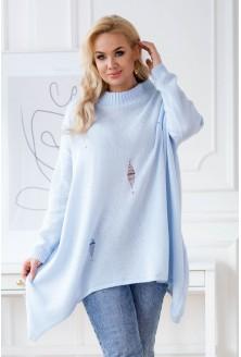 jasnniebieski sweterek plus size