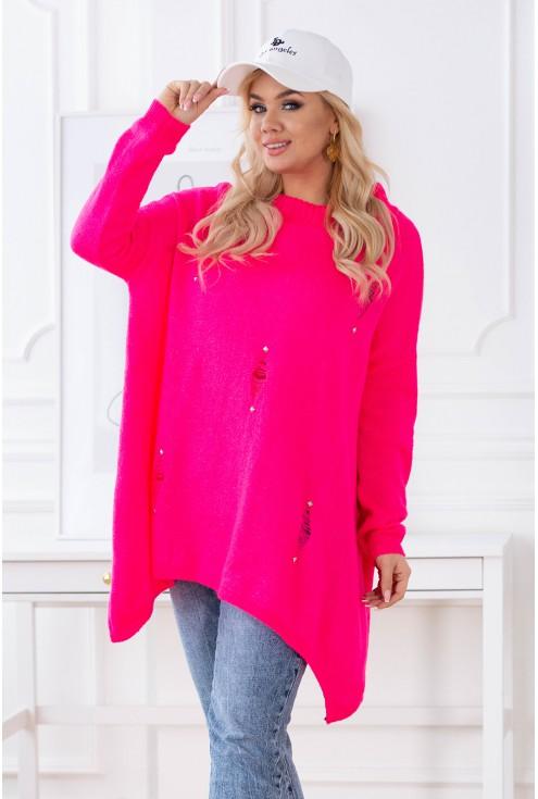różowy sweter Merlin