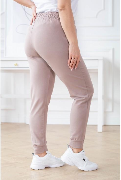 Beżowe spodnie dresowe - MICHAELA