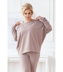 Beżowa bluza oversize - Michaela