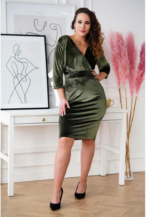 oliwkowa sukienka Lisha plus size