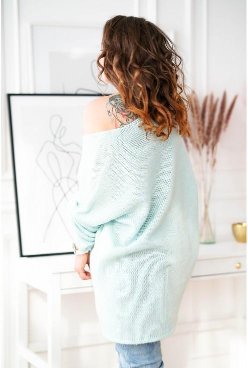 sweter oversize morski