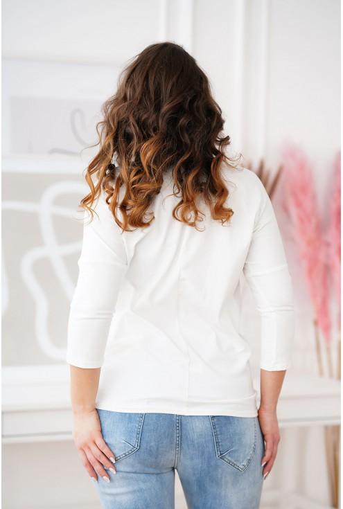 tył białej bluzki Melodie plus size
