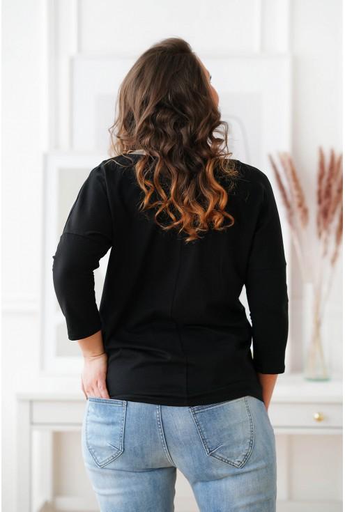 tył czarnej bluzki plus size Melodie