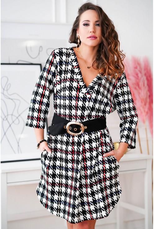 sukienka w modny wzór