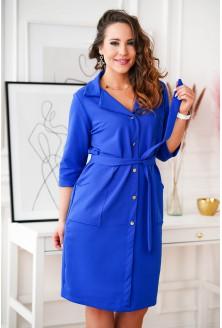 Chabrowa sukienka szmizjerka XXL