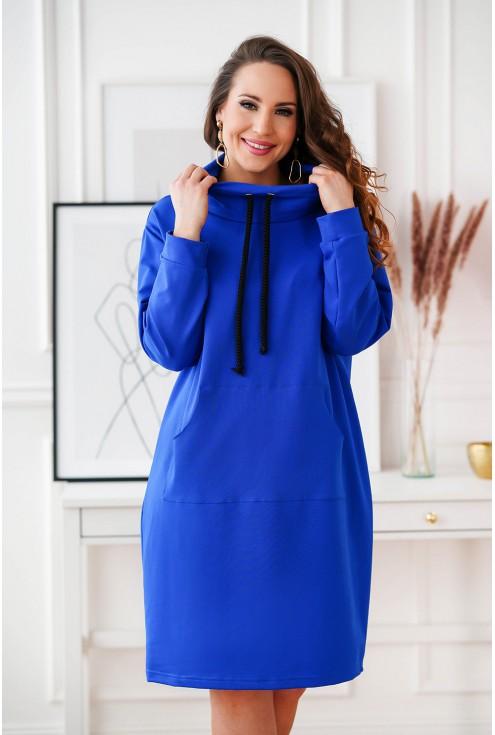 Chabrowa tunika/sukienka z półgolfem
