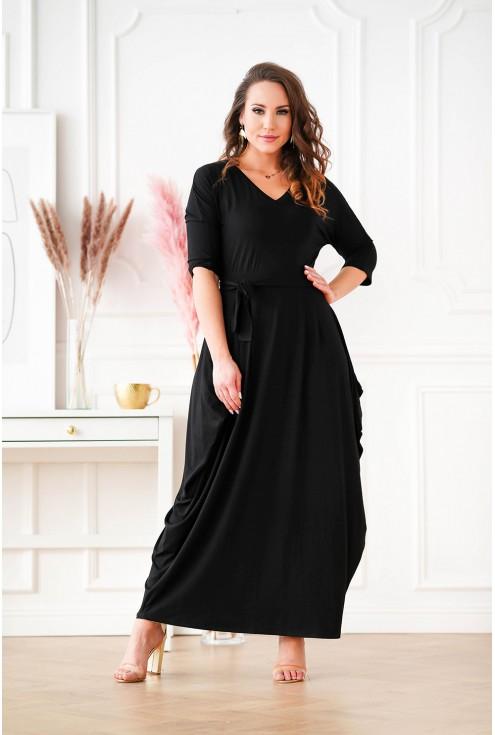długa czarna sukienka plus size