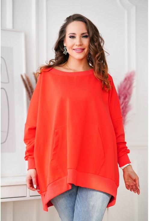 pomarańczowa bluza plus size Camisa