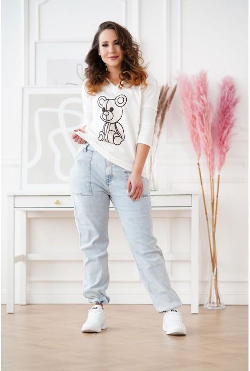 jasne jeansy plus size Raffi