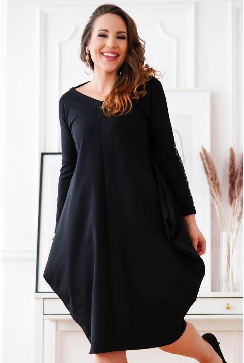 czarna sukienka oversize Viki
