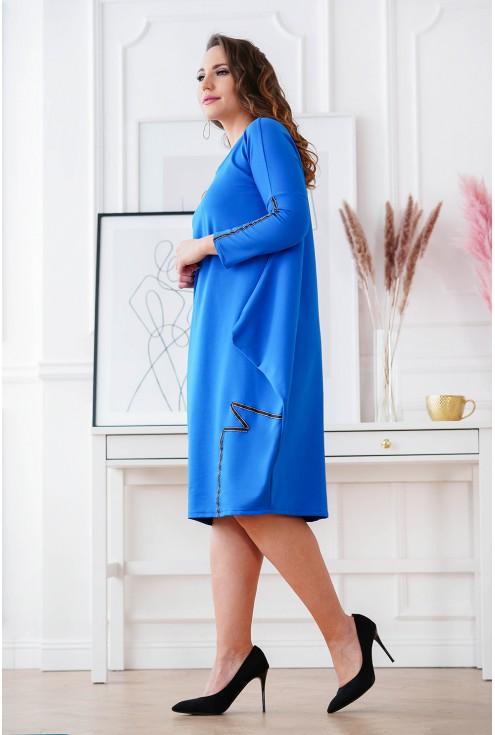 dresowa sukienka z wiązaniem XXL