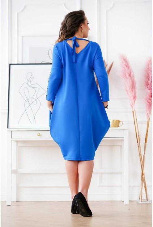 Chabrowa sukienka oversize Viki