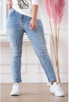 jeansy z wysokim stanem plus size