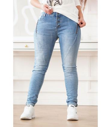 Jeansy z suwakami na kieszeniach - FELIA