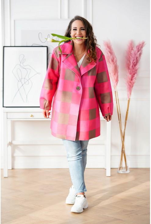 kolorowy płaszcz w dużych rozmiarach