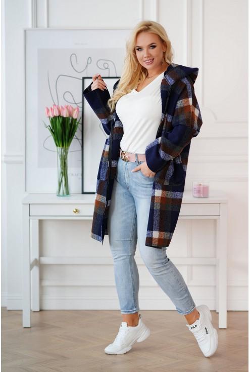 oversizowy płaszcz plus size Lindy