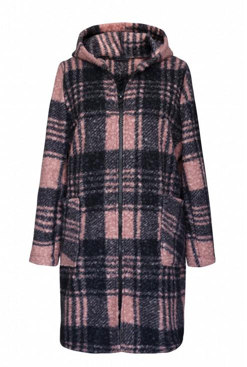 pudrowo różowy płaszcz xxl