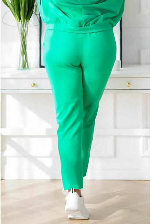 zielony dres plus size