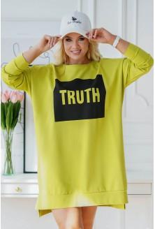 Limonkowa sukienka oversize