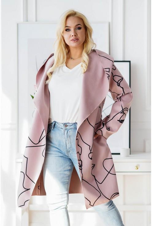 oversizowy płaszcz plus size