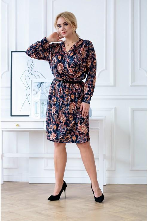 Granatowa sukienka Cilia XXL