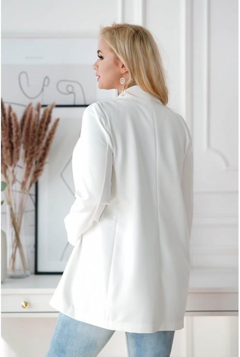 Biały żakiet oversize Effy