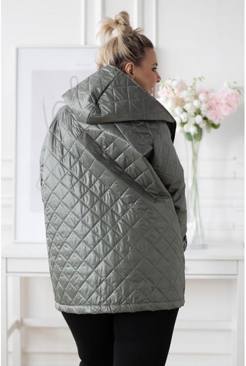 oliwkowa kurtka plus size