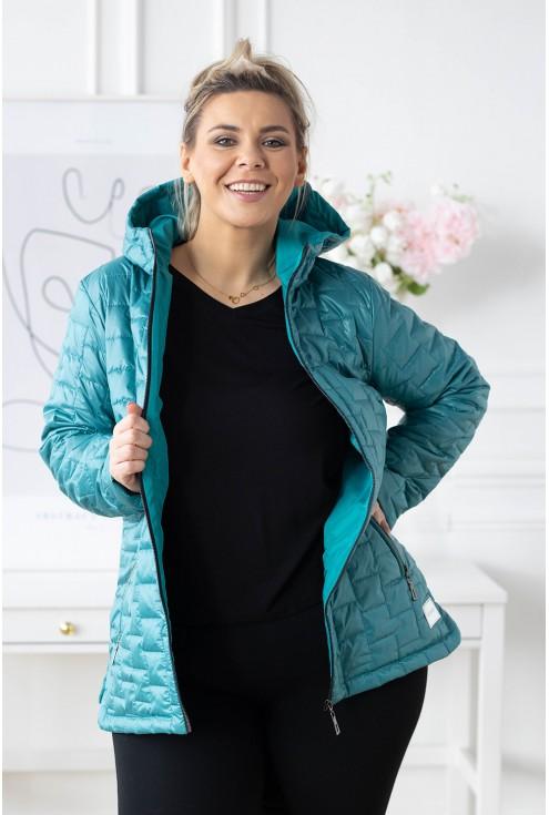 turkusowa kurtka plus size xxl