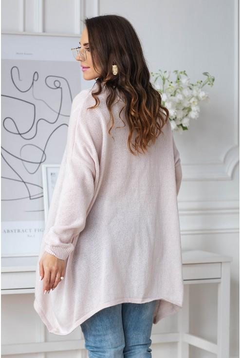pudrowy sweter xxl