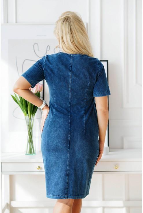 tył modnej sukienki xxl