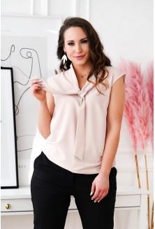Brudny róż szyfonowa bluzka